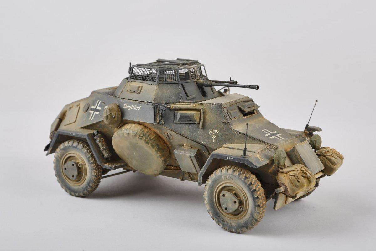 Sd.Kfz 222 DAK, 1/35 - [M]Galerie - Modelarstwo plastikowe - Modelwork