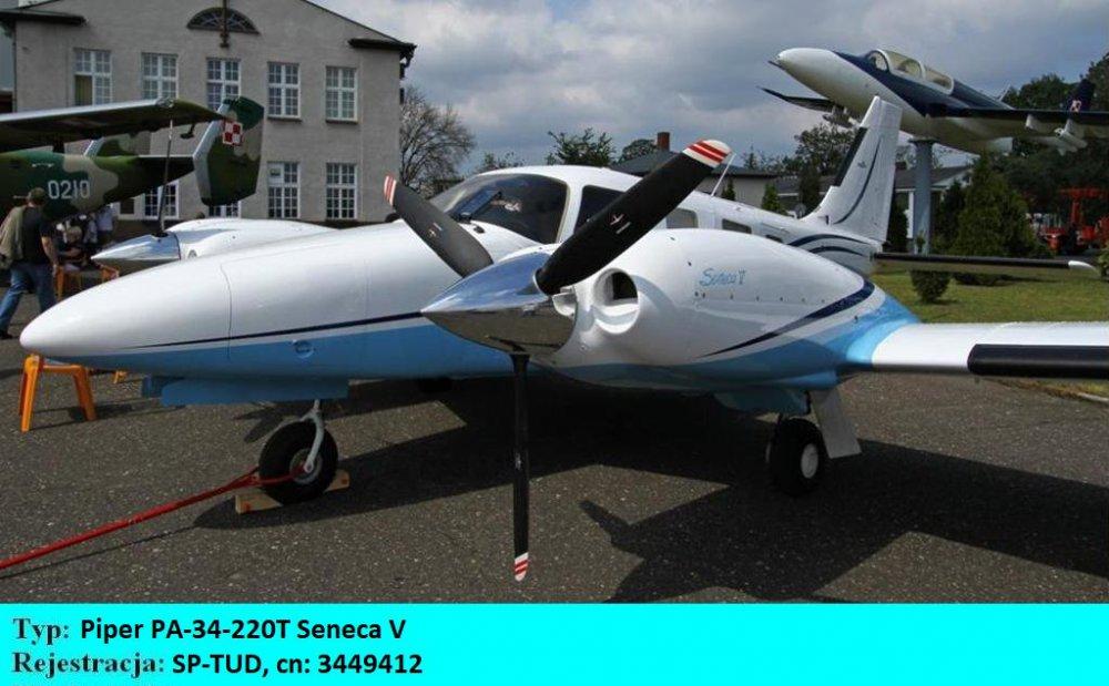 Piper PA-34 -220T Seneca V.SP-TUD.Bydgoszcz-Szwederowo.2011(01).JPG