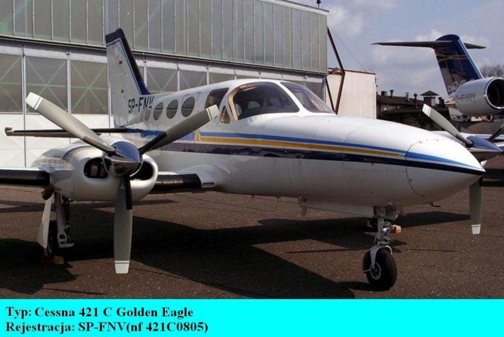 Cessna 421 C Golden Eagle.SP-FNV.Bydgoszcz-Szwederowo.2011(01).JPG