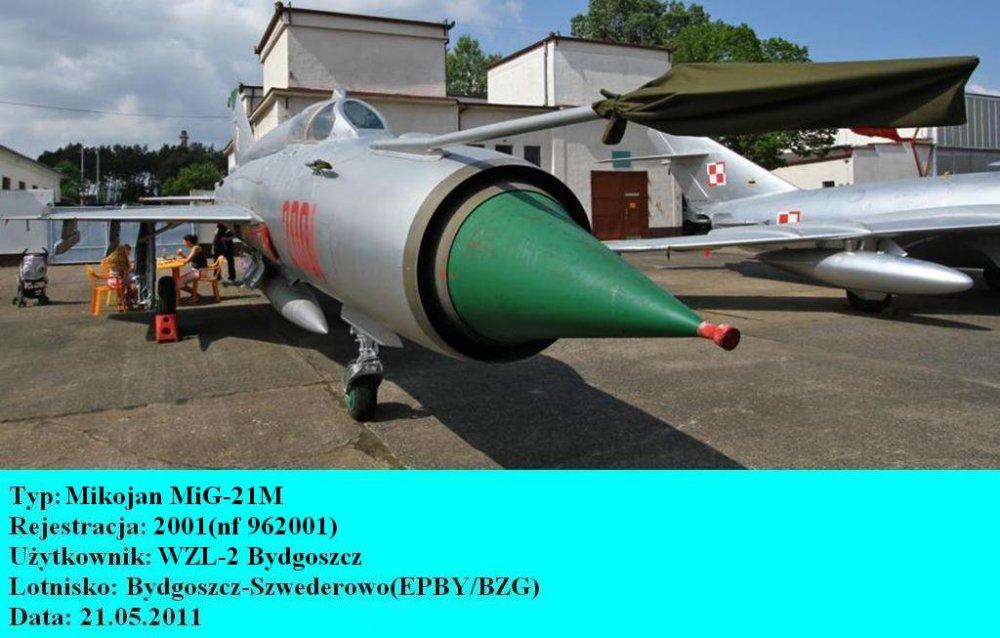 Mikojan MiG-21M.2001.Bydgoszcz-Szwederowo.2011(01).JPG