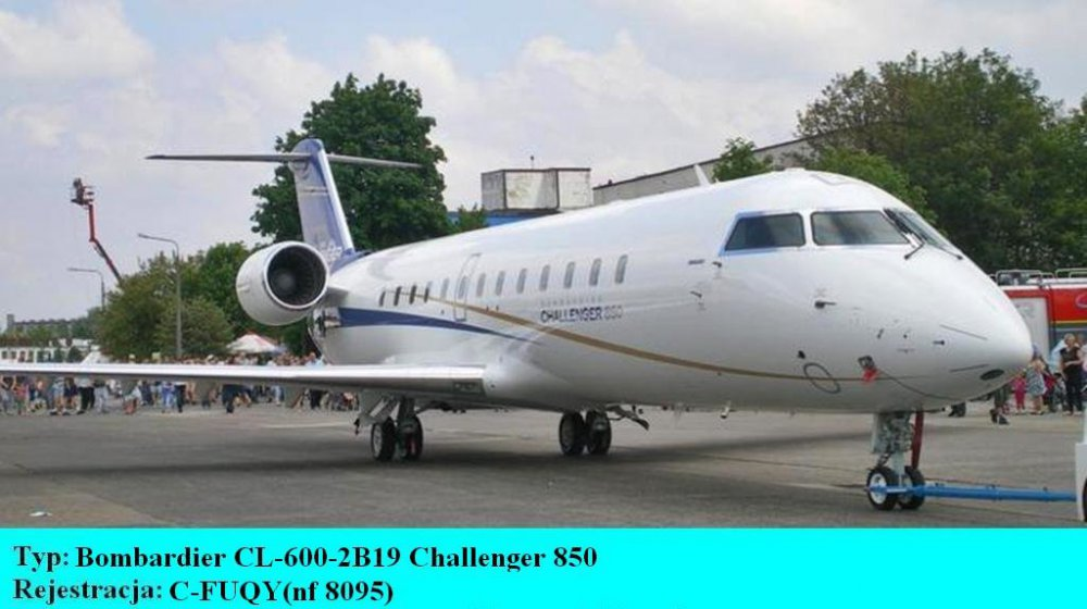 Bombardier CL-600-2B19 Challenger 850.C-FUQY.Bydgoszcz-Szwederowo.2011(01).JPG